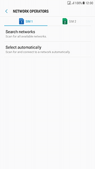 Samsung Galaxy J7 (2017) - Network - Manually select a network - Step 8
