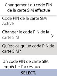 Alcatel 3088X - Sécuriser votre mobile - Personnaliser le code PIN de votre carte SIM - Étape 10