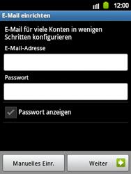 Samsung Galaxy Y - E-Mail - Manuelle Konfiguration - Schritt 6