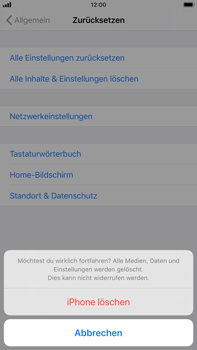 Apple iPhone 6s Plus - iOS 13 - Fehlerbehebung - Handy zurücksetzen - Schritt 9