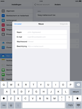 Apple iPad Air iOS 8 - E-mail - e-mail instellen: IMAP (aanbevolen) - Stap 7