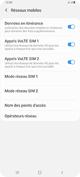 Samsung Galaxy A80 - Internet et roaming de données - Désactivation du roaming de données - Étape 6