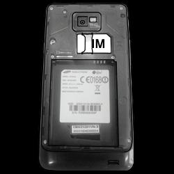 Samsung I9100 Galaxy S2 mit Android 4.1 - SIM-Karte - Einlegen - Schritt 4