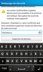 BlackBerry Z10 - Aller plus loin - Restaurer les paramètres d'usines - Étape 7