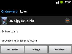 Samsung B5510 Galaxy TXT - E-mail - E-mails verzenden - Stap 13