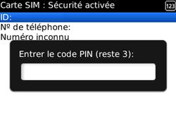BlackBerry curve 3G - Sécuriser votre mobile - Personnaliser le code PIN de votre carte SIM - Étape 8
