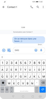 Huawei P Smart 2020 - Contact, Appels, SMS/MMS - Envoyer un SMS - Étape 10