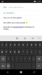 Microsoft Lumia 650 - E-Mail - E-Mail versenden - Schritt 9