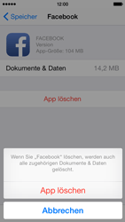 Apple iPhone 5s iOS 8 - Apps - Eine App deinstallieren - Schritt 8