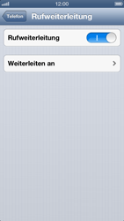 Apple iPhone 5 - Anrufe - Rufumleitungen setzen und löschen - Schritt 7