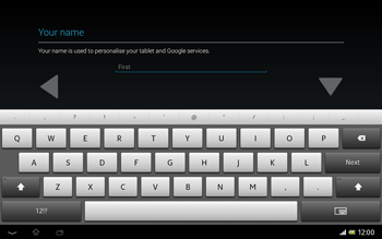 Sony Xperia Tablet Z LTE - Applications - Setting up the application store - Step 5