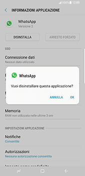 Samsung Galaxy S8 Plus - Applicazioni - Come disinstallare un