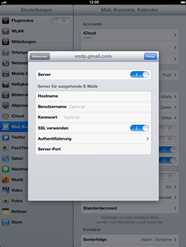 Apple iPad 3 - E-Mail - Konto einrichten - Schritt 17