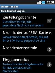 Samsung Galaxy Mini - SMS - Manuelle Konfiguration - 0 / 0