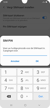 Samsung Galaxy A50 - Beveiliging - pas de pincode voor je simkaart aan - Stap 9