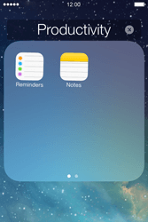 Apple iPhone 4S iOS 7 - Getting started - personalising your Start screen - Step 5