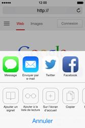 Apple iPhone 4S iOS 7 - Internet et roaming de données - navigation sur Internet - Étape 7