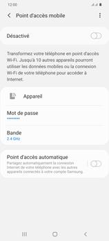 Samsung Galaxy S20+ - Internet et connexion - Partager votre connexion en Wi-Fi - Étape 7