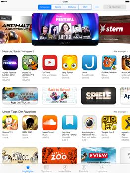 Apple iPad mini iOS 7 - Apps - Einrichten des App Stores - Schritt 3