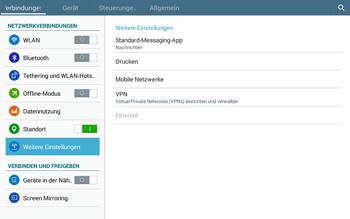 Samsung T535 Galaxy Tab 4 10.1 - Internet und Datenroaming - Deaktivieren von Datenroaming - Schritt 5