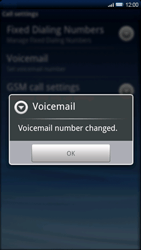 Sony Xperia X10 - Voicemail - Manual configuration - Step 7