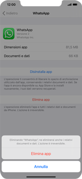 Apple iPhone XS Max - iOS 13 - Applicazioni - Come disinstallare un