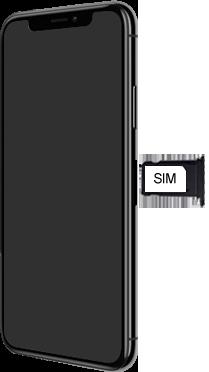 Apple iPhone X - iOS 13 - Toestel - simkaart plaatsen - Stap 4