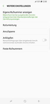 Samsung Galaxy S8 Plus - Anrufe - Rufumleitungen setzen und löschen - Schritt 7