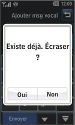 LG GD510 Pop - Messagerie vocale - Configuration manuelle - Étape 7