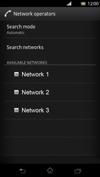 Sony Xperia T - Network - Manual network selection - Step 8