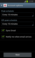 Samsung Galaxy Express - E-mail - Manual configuration - Step 16