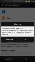 HTC One - Gerät - Zurücksetzen auf die Werkseinstellungen - Schritt 7