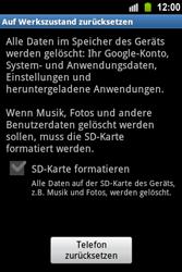 Samsung Galaxy Ace - Fehlerbehebung - Handy zurücksetzen - 8 / 10