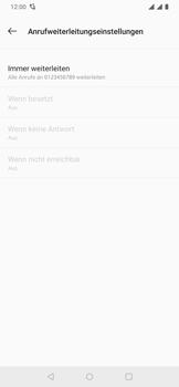 OnePlus 6T - Anrufe - Rufumleitungen setzen und löschen - 13 / 14