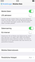Apple iPhone 6 iOS 8 - Internet und Datenroaming - Deaktivieren von Datenroaming - Schritt 4