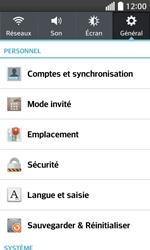 LG F70 - Sécuriser votre mobile - Personnaliser le code PIN de votre carte SIM - Étape 5