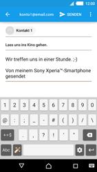 Sony Xperia M4 Aqua - E-Mail - E-Mail versenden - 2 / 2