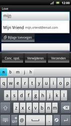 Sony Xperia Neo - E-mail - E-mails verzenden - Stap 5