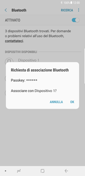 Samsung Galaxy Note 8 - Bluetooth - Collegamento dei dispositivi - Fase 8