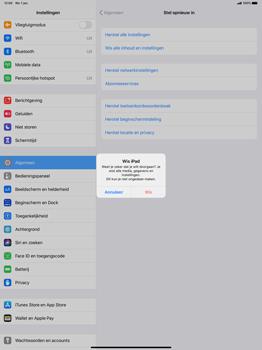 Apple iPad Pro 12.9 inch 4th generation (2020) (Model A2232) - Instellingen aanpassen - Fabrieksinstellingen terugzetten - Stap 7
