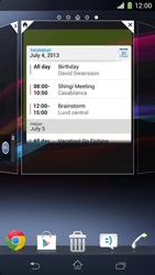 Sony Xperia Z1 Compact - Getting started - Installing widgets and applications on your start screen - Step 6