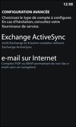 Nokia Lumia 800 / Lumia 900 - E-mail - Configuration manuelle - Étape 8