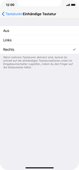 Apple iPhone X - iOS 11 - Einhand-Tastatur - 7 / 11