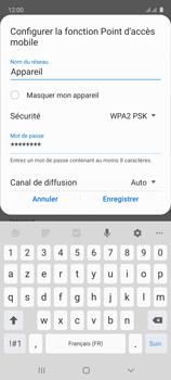 Samsung Galaxy A51 - Internet et connexion - Partager votre connexion en Wi-Fi - Étape 9