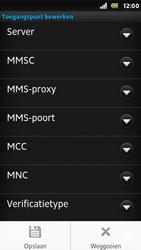 Sony ST25i Xperia U - MMS - Handmatig instellen - Stap 13