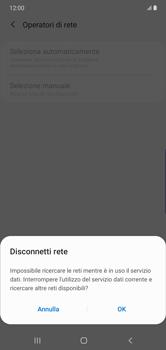 Samsung Galaxy Note 10 Plus 5G - Rete - Selezione manuale della rete - Fase 8