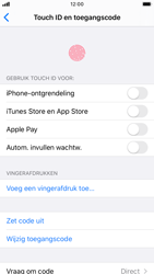 Apple iPhone 8 - iOS 13 - Beveiliging - stel in of wijzig pincode voor je toestel - Stap 8