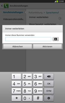 Samsung N5100 Galaxy Note 8-0 - Anrufe - Rufumleitungen setzen und löschen - Schritt 9