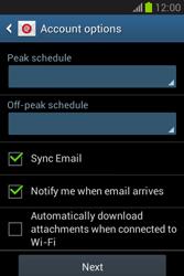 Samsung Galaxy Fame Lite - E-mail - manual configuration - Step 19