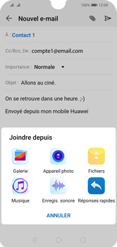 Huawei Y5 (2019) - E-mail - envoyer un e-mail - Étape 10